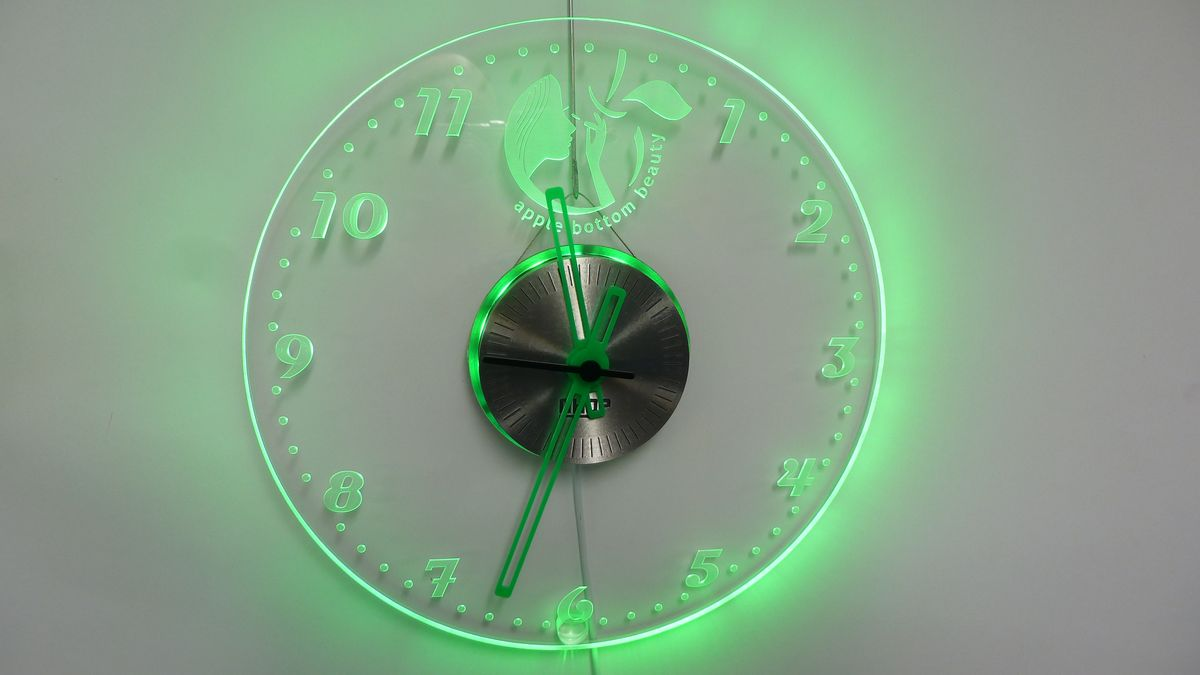 Ghqp Project Acrylic Led Edge Lit Wall Clocks