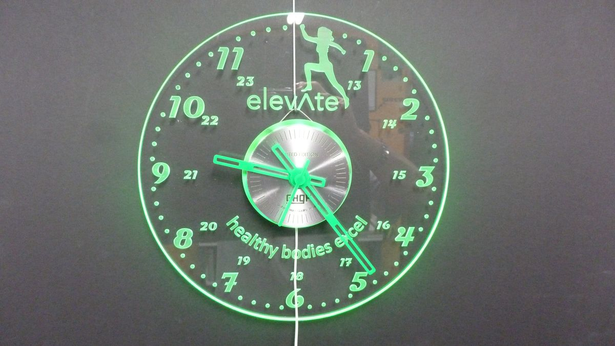 GHQP Project - Acrylic LED Edge Lit Wall Clocks